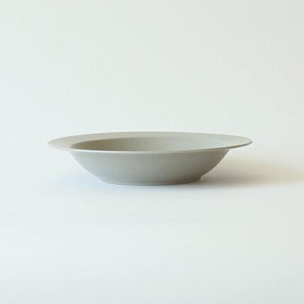 kura(クラ)Ena(エナ)リムプレート/ディープ/パスタプレート21cmクールグレー/マット和洋食器/食器/皿