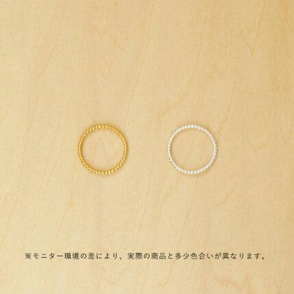 11月中旬頃発送予定Enamel(エナメル)リング48/50/52シンプルバブルゴールド/シルバー