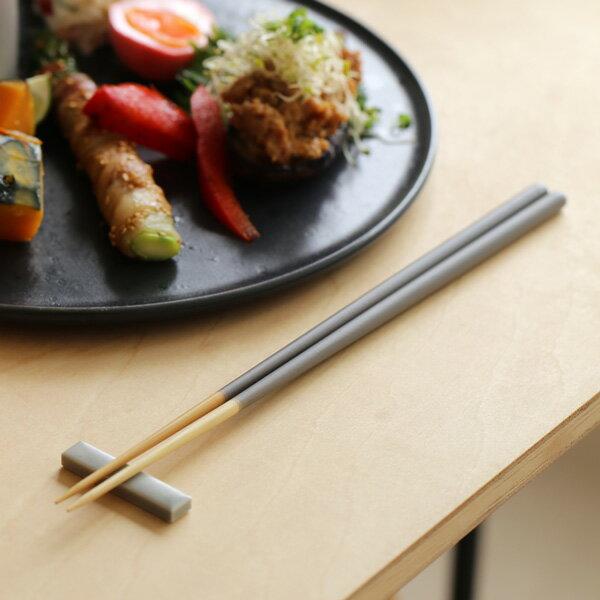 STIIK (スティック) 箸/はし(2膳入り) ミディアムグレー カトラリーのような箸/一年箸/竹製