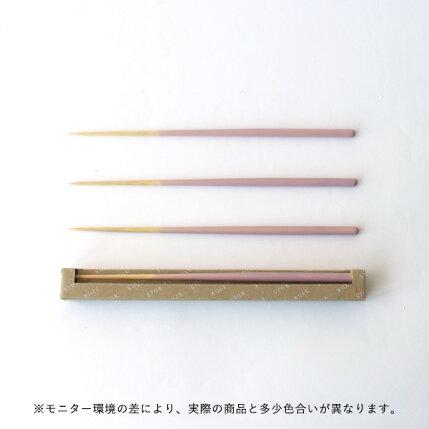 STIIK(スティック)箸/はし(2膳入り)2020年イヤーカラーガリ(ピンク)カトラリーのような箸/一年箸/竹製【メール便】