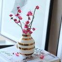 復刻決定! Kahler(ケーラー) 175周年記念 オマジオアニバーサリーベースS ブラス 花瓶 陶器 日本正規代理店品