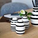 Kahler (ケーラー)オマジオ フラワーベースミニ 3個セット ブラック花瓶 陶器日本正規代理店品