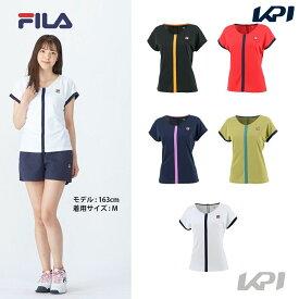 【全品10%OFFクーポン〜9/20】フィラ FILA テニスウェア レディース ゲームシャツ VL2367 2021FW