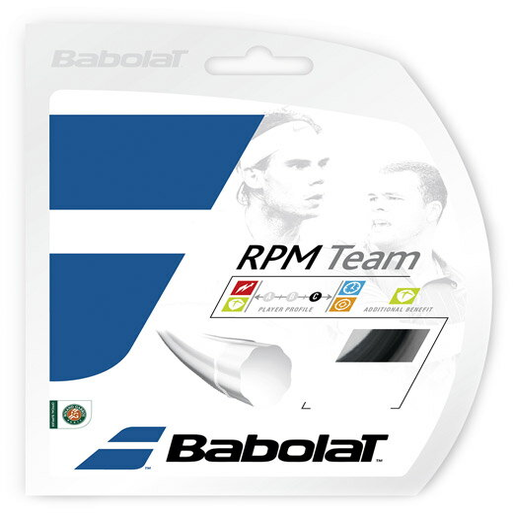 【最大2000円クーポン対象】「あす楽対応」BabolaT(バボラ)「RPM TEAM(RPMチーム)125/130 BA241108」硬式テニスストリング(ガット)【KPI】[ネコポス可]『即日出荷』【kpi_d】