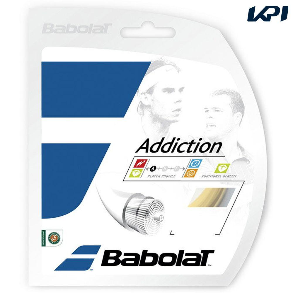 「あす楽対応」BabolaT(バボラ)「Addiction(アディクション)125/130/135 BA241115」硬式テニスストリング(ガット)【KPI】[ネコポス可]『即日出荷』【店頭受取対応商品】【kpi_d】