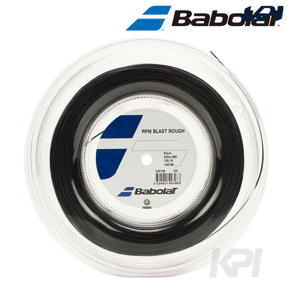 『即日出荷』「2017新製品」BabolaT(バボラ)「RPM BLAST ROUGH(RPM ブラスト ラフ)125/130 200mロール BA243136」硬式テニスストリング(ガット)「あす楽対応」【kpi_d】
