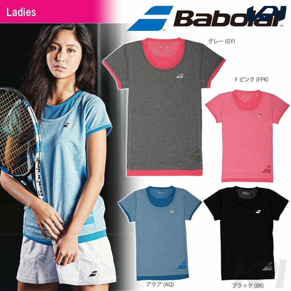 【30%OFFクーポン対象】『即日出荷』「2017新製品」Babolat(バボラ)「Women's レディース ショートスリーブシャツ BAB-1732W」テニスウェア「2017SS」「あす楽対応」