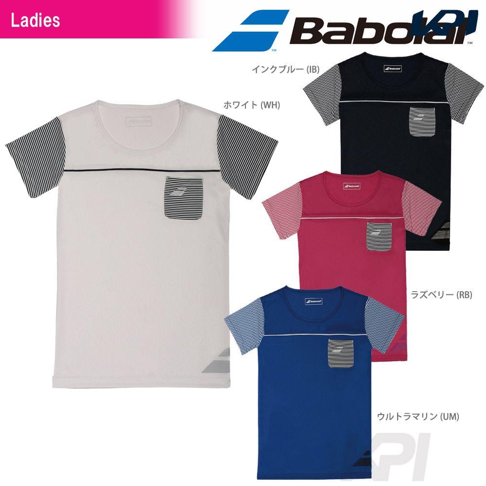 『即日出荷』「2017新製品」Babolat(バボラ)「Women's レディース ショートスリーブシャツ BAB-1742W」テニスウェア「2017SS」「あす楽対応」【kpi_d】