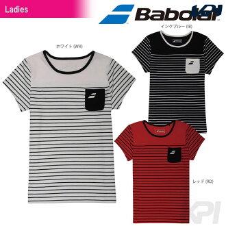 「2017 신제품」Babolat(바보라) 「Women's레이디스 쇼트 슬리브 셔츠 BAB-1745 W」테니스 웨어 「2017 SS」 「대응」