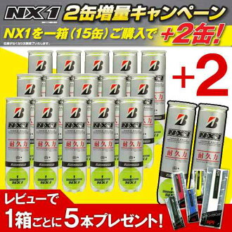 BRIDGESTONE (Bridgestone) NX1 (エヌエック Swan) (into 4 balls) 1 box = 15 + 2 cans (17 cans) [60 + 8 ball: BBANXA tennis ball fs3gm