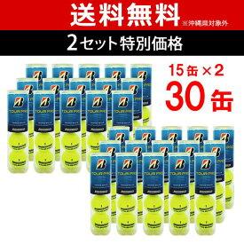 【全品10%OFFクーポン】BRIDGESTONE(ブリヂストン)TOUR PRO(ツアープロ)2箱セット(15缶×2=120球)テニスボール