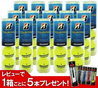 「 리뷰를 쓰면 1 박스 마다 그립 테이프 5 개 선물 」 BRIDGESTONE (브리지 스톤) TOUR PRO (투어 프로) 1 박스 (15 캔/60 구) 테니스 공을 ku