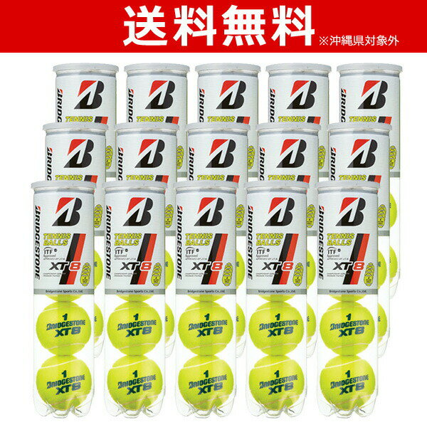 BRIDGESTONE(ブリヂストン)XT8(エックスティエイト)[4個入]1箱(15缶/60球)テニスボール【smtb-k】【kb】