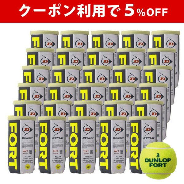 【期間限定!最大5000円クーポン】※団体様限定特別価格 【5%OFFクーポン対象】DUNLOP(ダンロップ)FORT(フォート)[2個入]1箱(30缶/60球)テニスボール