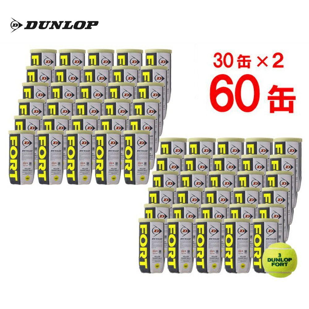『10%OFFクーポン対象』DUNLOP(ダンロップ)FORT(フォート)[2個入]2箱セット(30缶×2=120球)テニスボール