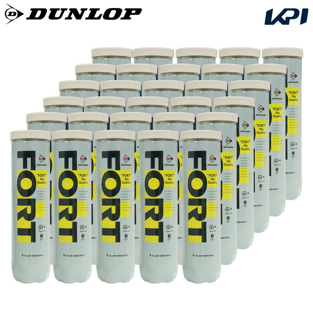 『10%OFFクーポン対象』DUNLOP(ダンロップ)「FORT(フォート)[4個入]1箱(30缶/120球)」テニスボール