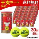 ダンロップ DUNLOP テニステニスボール FORT(フォート)干支ボール 2020年「子」 [2個入] 1箱(30缶/60球) DFD20ETOYL2D…