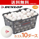 DUNLOP SOFTTENNIS BALL(ダンロップ ソフトテニスボール)公認球 バスケット入 10ダース(120球)