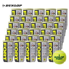 【店内最大2000円引クーポン】DUNLOP(ダンロップ)「FORT(フォート)[2個入]1箱(30缶/60球)」テニスボール