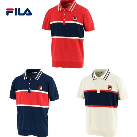 【全品10%OFFクーポン】フィラ FILA テニスウェア メンズ ポロシャツ VM5438 2019FW [ポスト投函便対応]