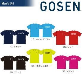 ゴーセン GOSEN テニスウェア ユニセックス 2020夏企画 半袖Tシャツ ワンポイントロゴ(Jrサイズあり)JPT01 2020SS 2020年6月末発売予定※予約[ポスト投函便対応]