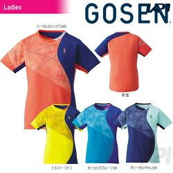 「2017新製品」GOSEN(ゴーセン)「レディースゲームシャツT1706」テニスウェア「2017SS」【KPI】