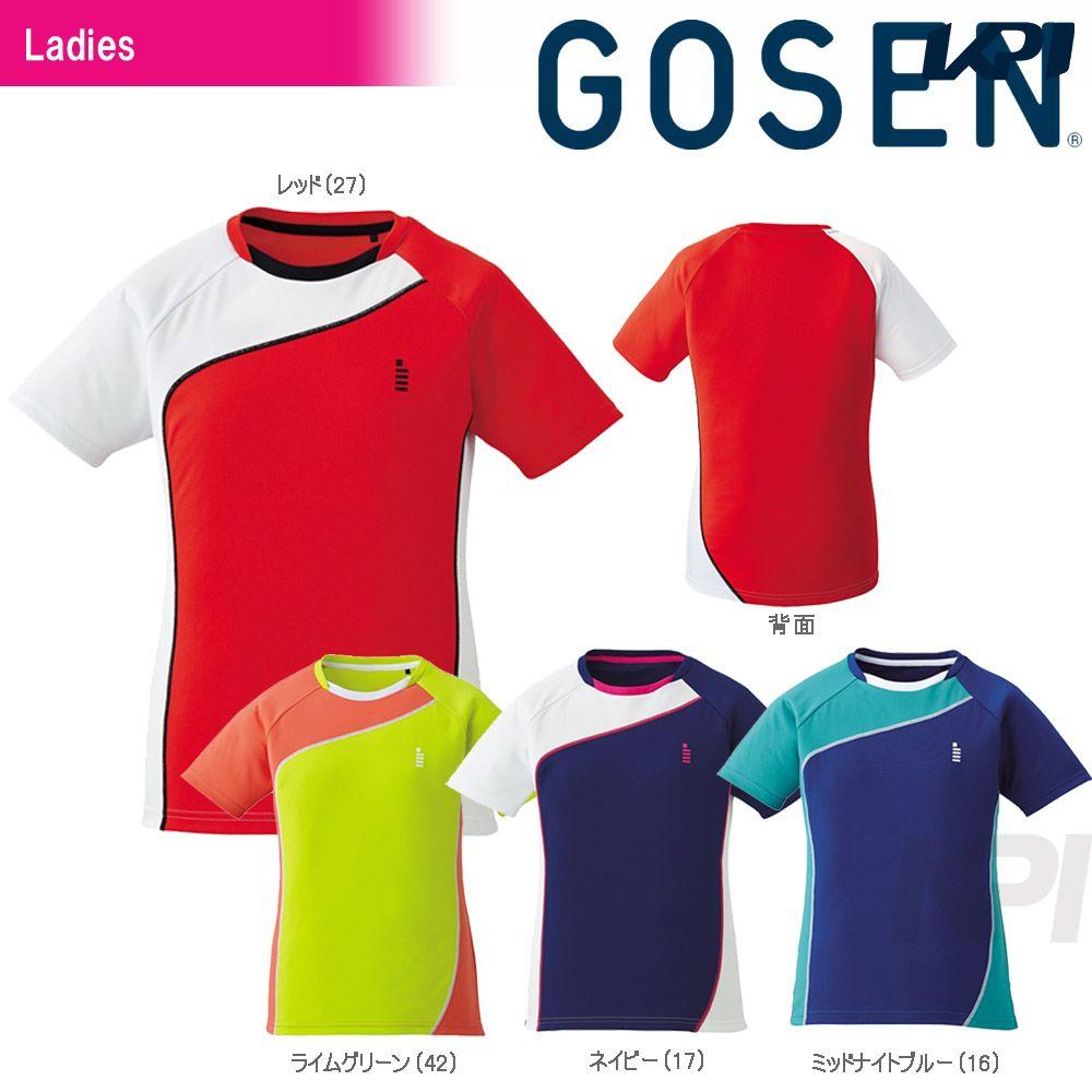 『10%OFFクーポン対象』GOSEN(ゴーセン)「レディース ゲームシャツ T1709」テニスウェア「2017SS」[ネコポス可]