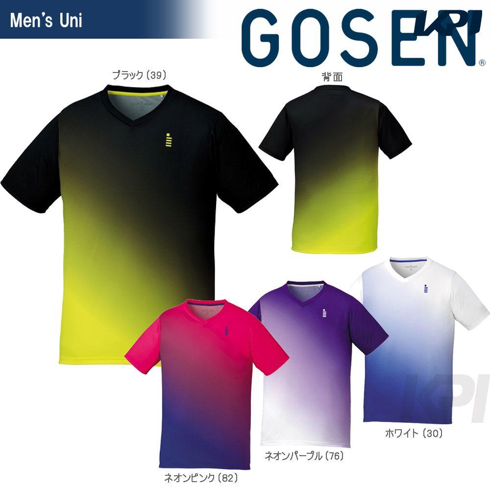 『全品10%OFFクーポン対象』GOSEN(ゴーセン)「UNI ゲームシャツ T1716」テニスウェア「2017SS」[ネコポス可]