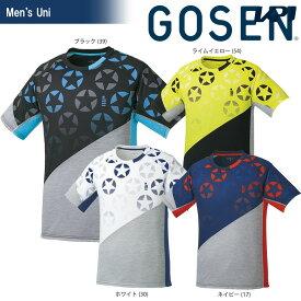 【全品10%OFFクーポン対象】ゴーセン GOSEN テニスウェア ユニセックス 星柄ゲームシャツ T1814 2018SS[ポスト投函便対応]