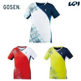 【全品10%OFFクーポン】ゴーセン GOSEN テニスウェア レディース ゲームシャツ T2003 2020SS [ポスト投函便対応]