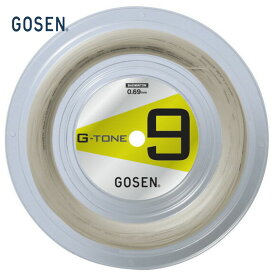【対象3店舗買いまわり最大10倍 3/4〜】GOSEN(ゴーセン)「G-TONE 9(ジートーンナイン)100mロール BS0691」バドミントンストリング[ポスト投函便対応]