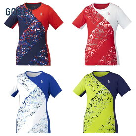 【全品10%OFFクーポン対象】ゴーセン GOSEN テニスウェア レディース ゲームシャツ T1943 2019FW[ポスト投函便対応]