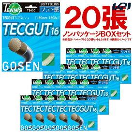 『即日出荷』 「ノンパッケージ・20張セット」GOSEN(ゴーセン)「テックガット16 ボックス」TS600W20P 硬式テニスストリング(ガット)「あす楽対応」「おススメお買い得ガット」