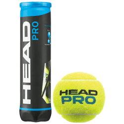 【レビューを書くと1箱毎にグリップテープ5本プレゼント】HEAD(ヘッド)【HEADPRO(ヘッドプロ)4球入り1箱(12缶/48球)571074】テニスボール