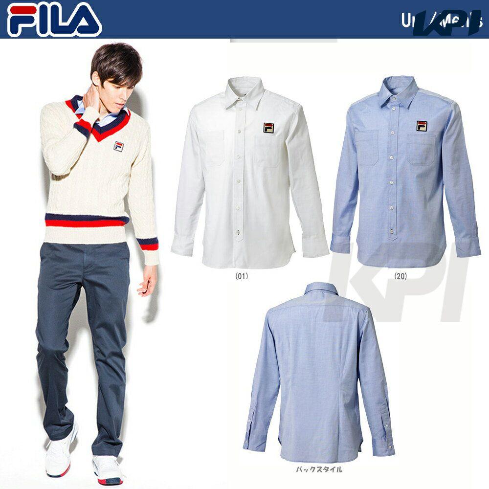 『即日出荷』FILA(フィラ)「MEN'S シャツ VM1023」テニスウェア「FW」「あす楽対応」【kpi_d】