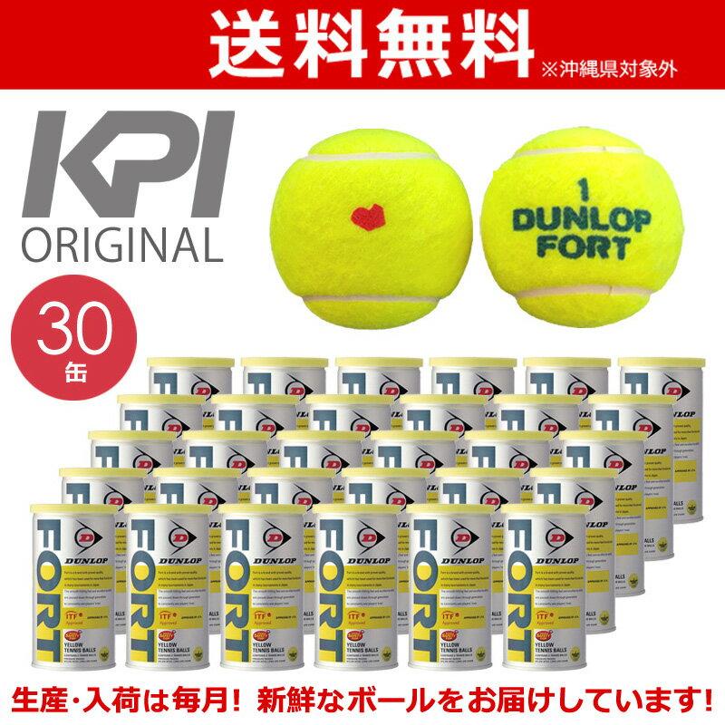 『10%OFFクーポン対象』「KPIオリジナルモデル」DUNLOP(ダンロップ)「FORT(フォート)[2個入]1箱(30缶/60球)」テニスボール 2月下旬入荷予定※予約