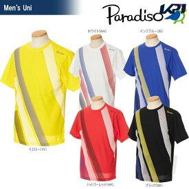 『全品10%OFFクーポン対象』PARADISO(パラディーゾ)「メンズ 半袖ゲームシャツ 97CM3A」テニスウェア「2017SS」[ネコポス可]