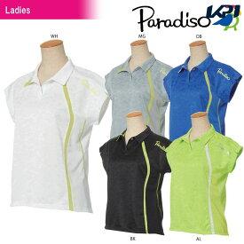 『全品10%OFFクーポン対象』パラディーゾ PARADISO テニスウェア レディース 半袖ゲームシャツ JCL62A 2018SS[ポスト投函便対応]