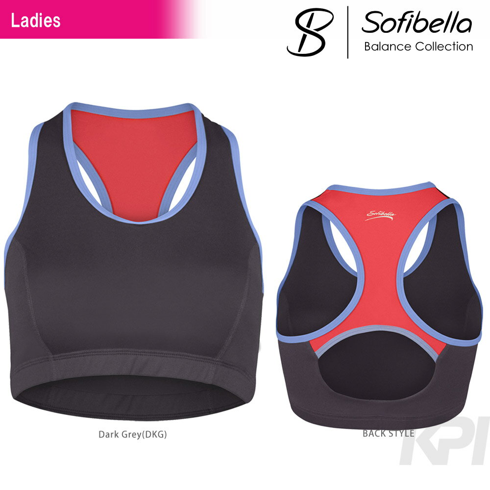 【半額クーポン対象】『即日出荷』Sofibella(ソフィベラ)「Balance Collection(バランスコレクション) Racerback Bra BA1462」テニスウェア「SS」「あす楽対応」