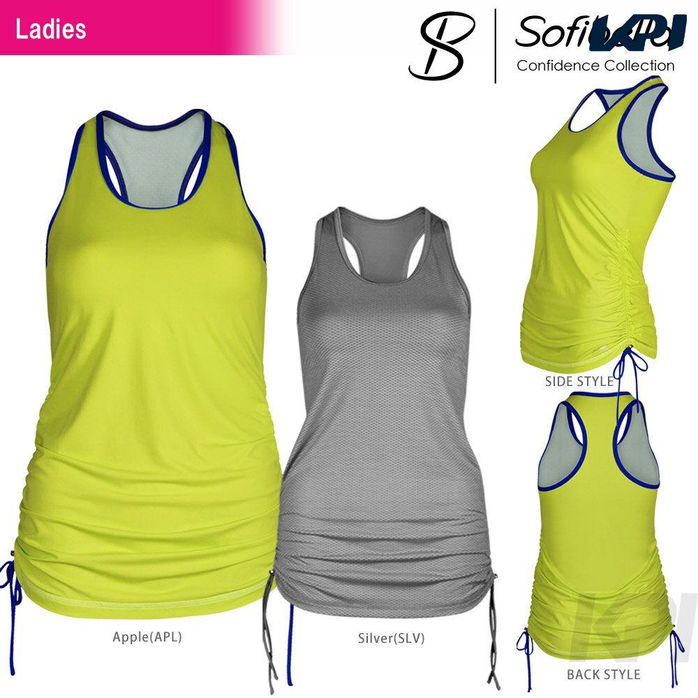 【半額クーポン対象】『即日出荷』Sofibella(ソフィベラ)「Confidence Collection(コンフィデンスコレクション) Athletic Tunic CO1460」テニスウェア「SS」「あす楽対応」【KPI】