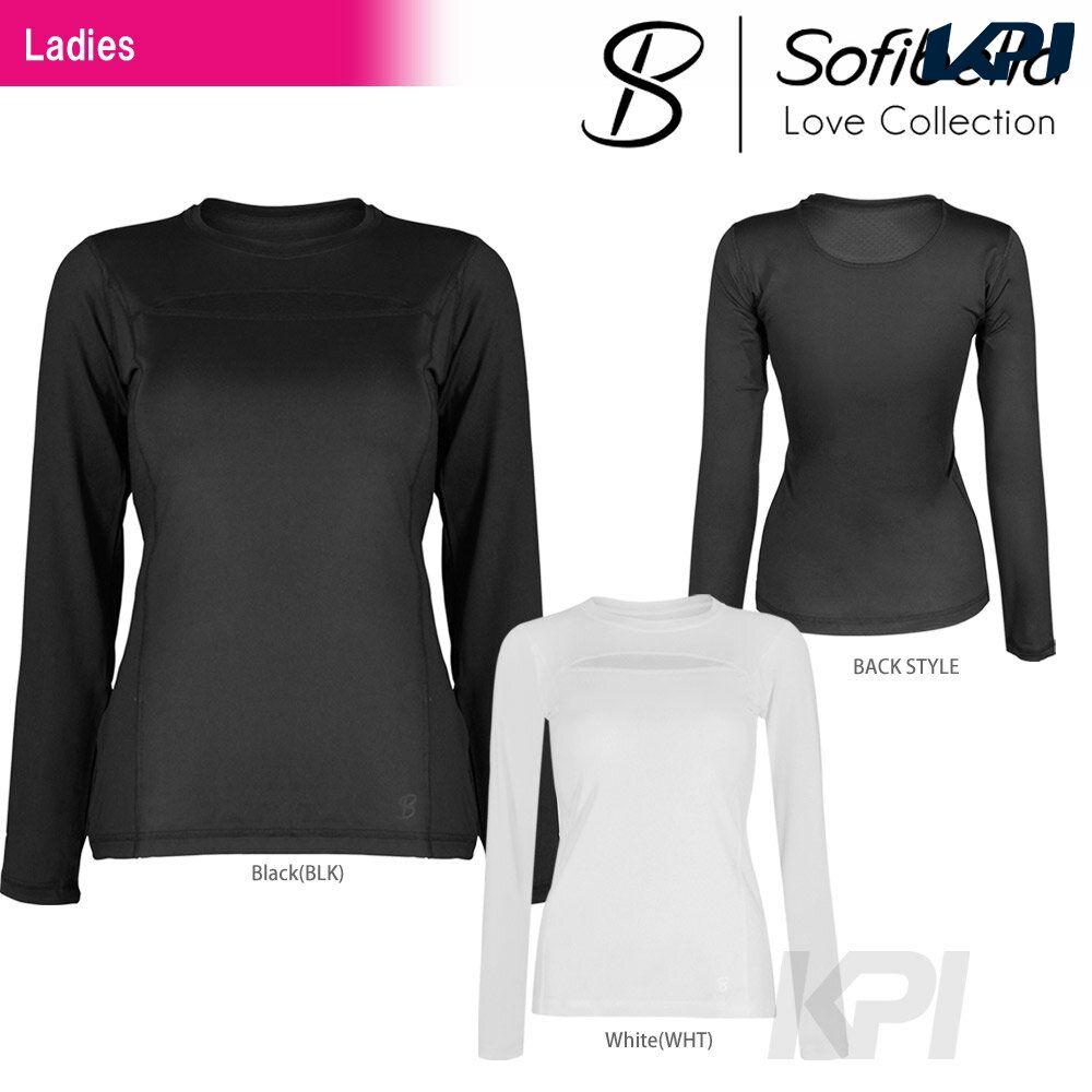 【半額クーポン対象】『即日出荷』Sofibella(ソフィベラ)「Love Collectiom(ラブコレクション) Crewneck Long Sleeve LO1070」テニスウェア「FW」「あす楽対応」【KPI】