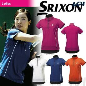 【全品10%OFFクーポン対象】SRIXON(スリクソン)「WOMEN'S レディース TOUR LINE ジップシャツ SDP-1761W」テニスウェア「FW」[ポスト投函便対応]