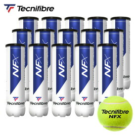 【最大4000円クーポン】【365日出荷】テクニファイバー Tecnifibre テニスボール NFX(エヌエフエックス)4個入 1箱(15缶/60球) TBA4NF1「あす楽対応」