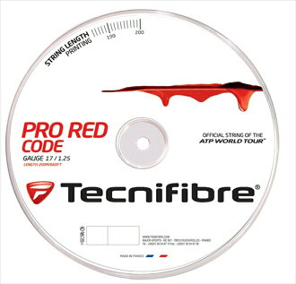 """New package"" Tecnifibre (テクニファイバー) ""PRO REDCODE (professional red cord) 200m roll TFR501"" tennis string (gut) ""correspondence"""