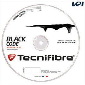 『全品10%OFFクーポン対象』『即日出荷』 「新パッケージ」Tecnifibre(テクニファイバー)「BLACK CODE(ブラックコード) 200mロール TFR503」硬式テニスストリング(ガット)【KPI】「あす楽対応」