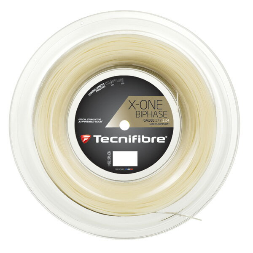 『即日出荷』Tecnifibre(テクニファイバー)「X-ONE BIPHASE(エックスワン バイフェイズ) 200mロール TFR901」硬式テニスストリング(ガット)「あす楽対応」【kpi_d】