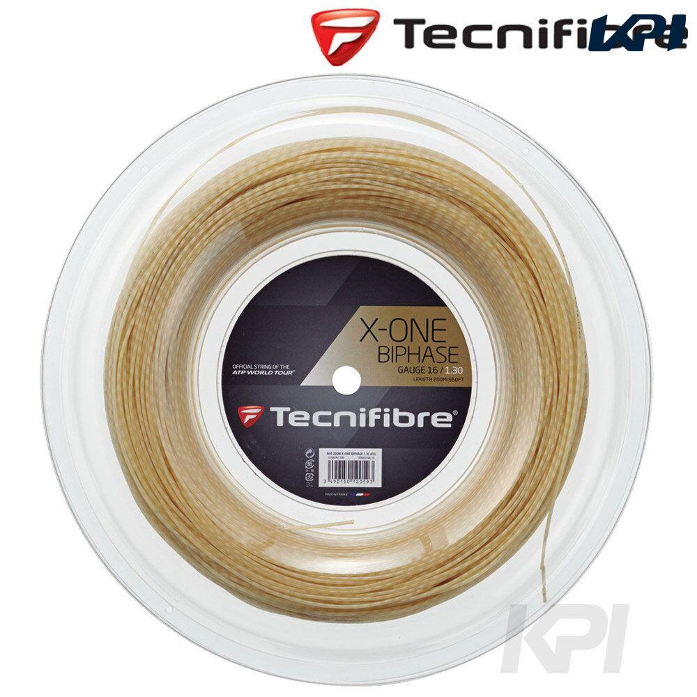【店内最大50%クーポン】「あす楽対応」Tecnifibre(テクニファイバー)「X-ONE BIPHASE 1.30mm(エックスワン バイフェイズ) 200mロール TFR902」硬式テニスストリング(ガット)『即日出荷』
