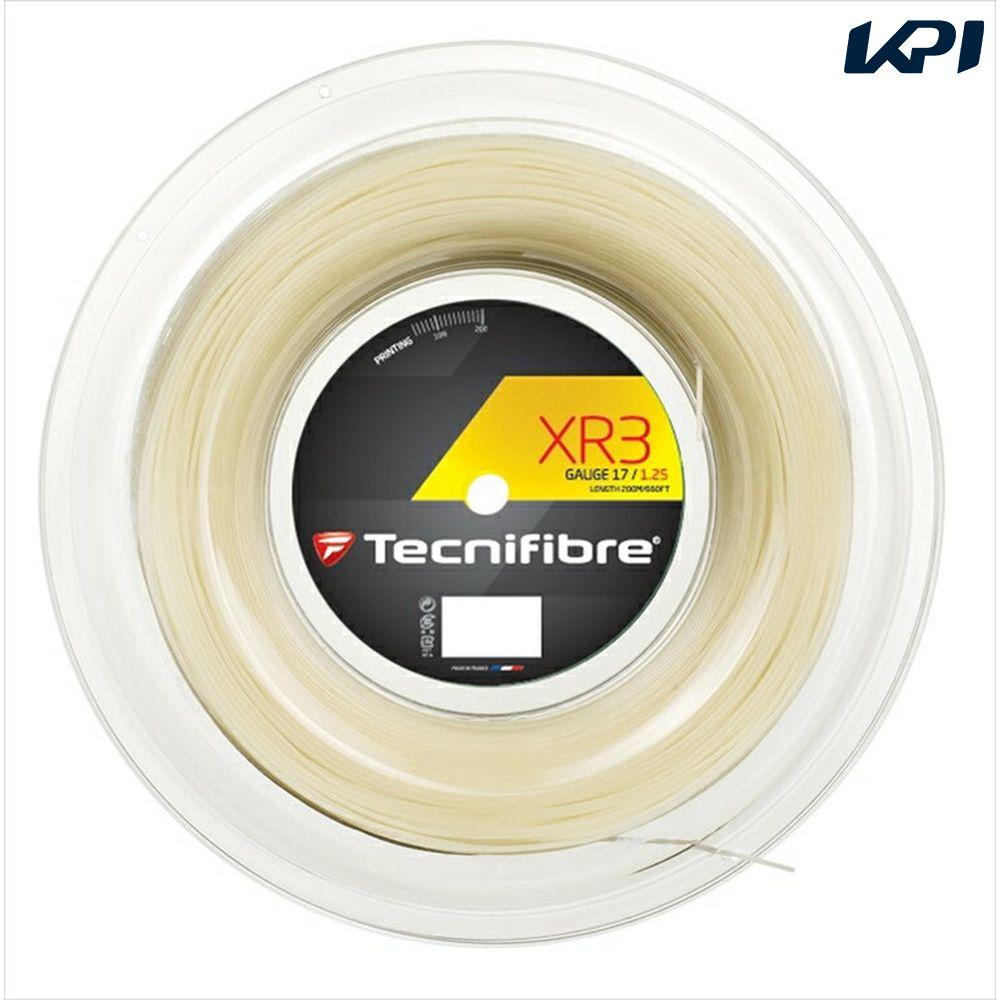 「新パッケージ」Tecnifibre(テクニファイバー)「XR3(エックスアール3) 200mロール TFR910」硬式テニスストリング(ガット)【kpi_d】