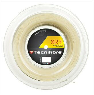 """""""New package"""" Tecnifibre (テクニファイバー) """"XR3 (X are 3) 200m roll TFR911"""" tennis string (gut) """"correspondence"""""""