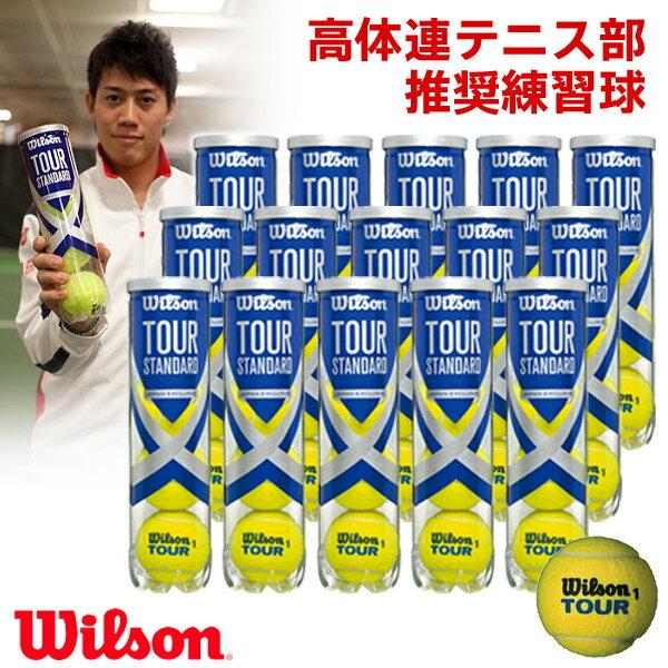 「あす楽対応」Wilson(ウイルソン)「TOUR STANDARD(ツアー・スタンダード) 1箱(15缶) WRT103800」テニスボール『即日出荷』